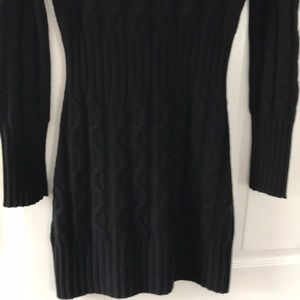 Searle $795 100% Cashmere Black Sweater Dress